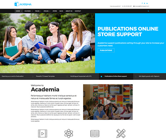 Responsive Education Joomla Template