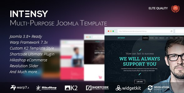 multipurpose Joomla 3.8.x template