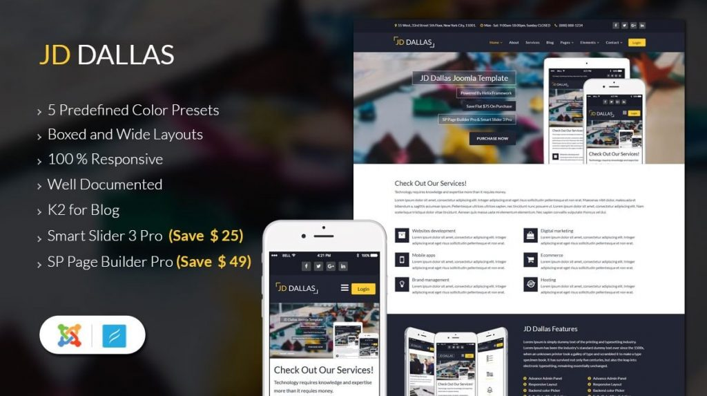 JD Dallas Joomla Template
