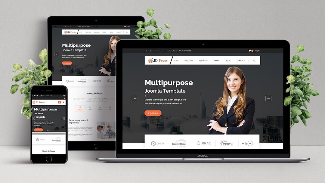 latest multipurpose Joomla 3.8.2 Template