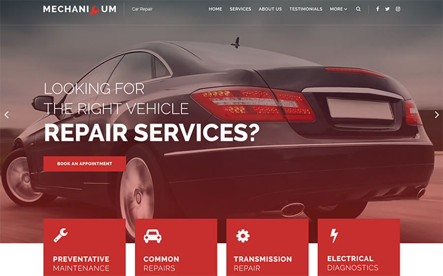 Mechanicum - Car Repair WordPress Theme