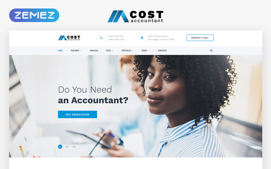 Accountant Multipage HTML5 Template