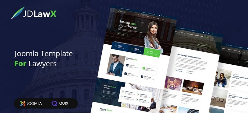 Multipurpose lawyer Joomla template