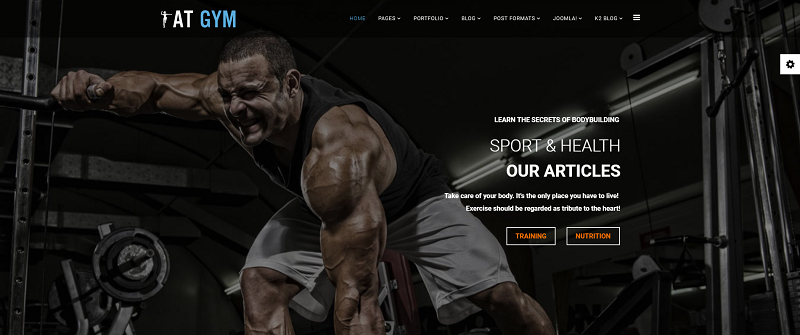 Fitness/Gym Joomla template