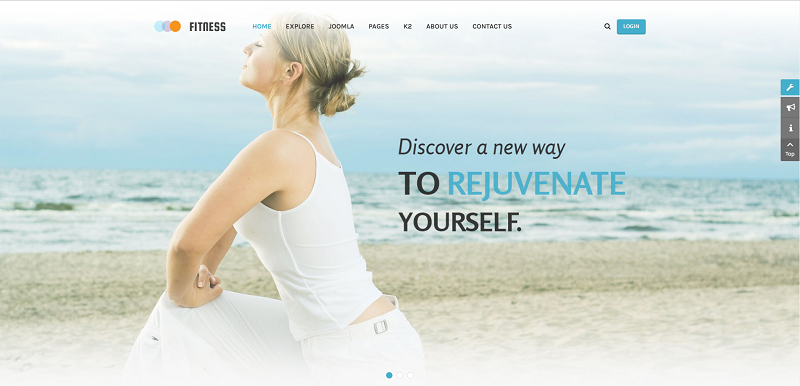 Yoga Fitness Joomla Template