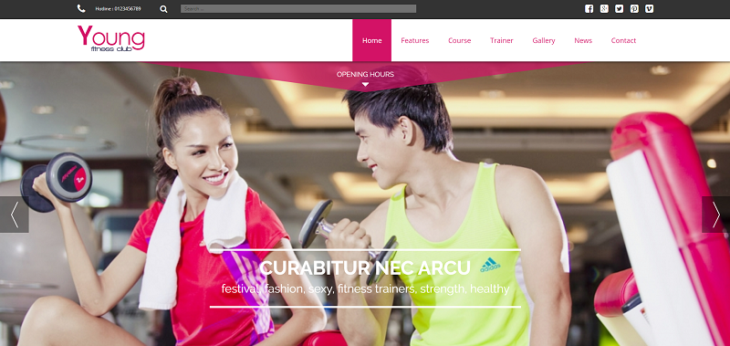 Fitness, Spa Joomla Template