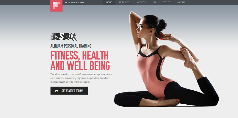 Best Fitness Joomla Template