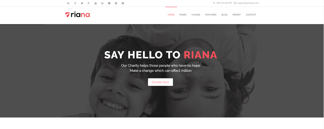 Best responsive Charity Joomla template