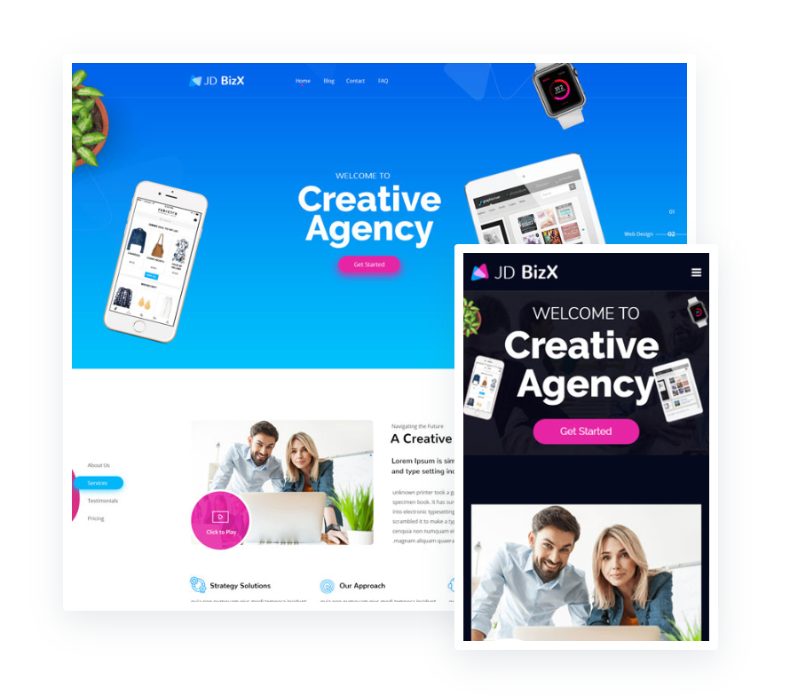 One Page Business Joomla Template