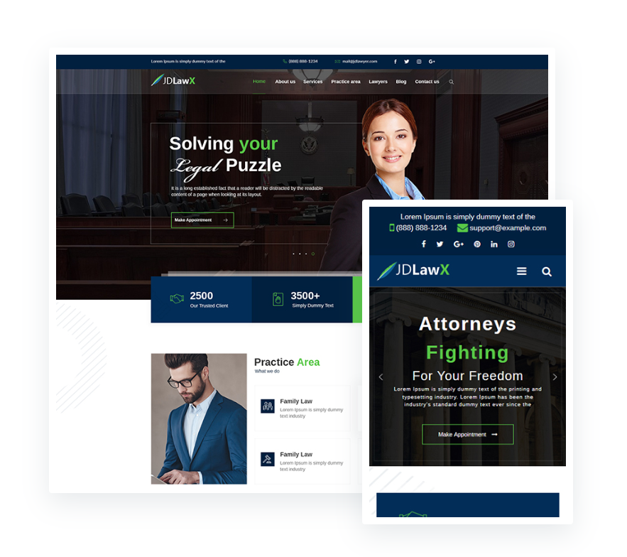 Law Business Joomla Template