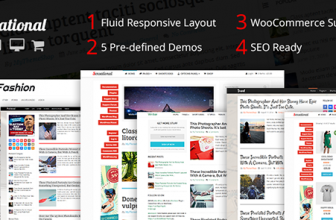 Sensational – Fully Responsive & SEO optimized Magazine WP Theme